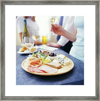 Cheese And Meats Framed Print by David Munns