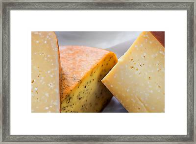 Cheese Display Framed Print by Tony Grider