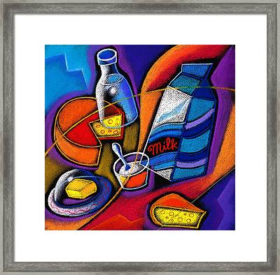 Cheese Framed Print by Leon Zernitsky
