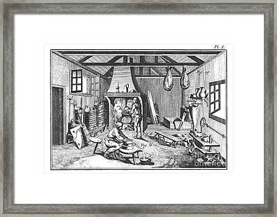 Cheese-making 18th Century Framed Print by Granger