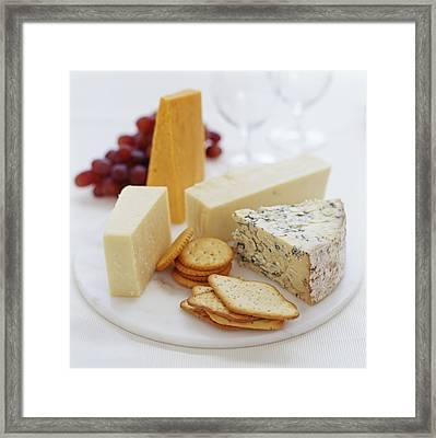 Cheese Selection Framed Print by David Munns