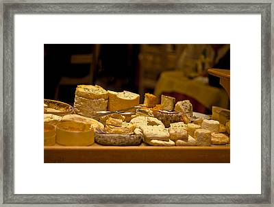Cheese Selection Framed Print