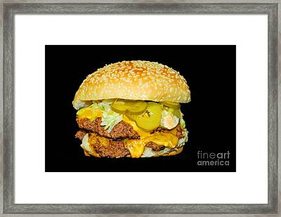 Framed Print featuring the photograph Cheeseburger by Cindy Manero