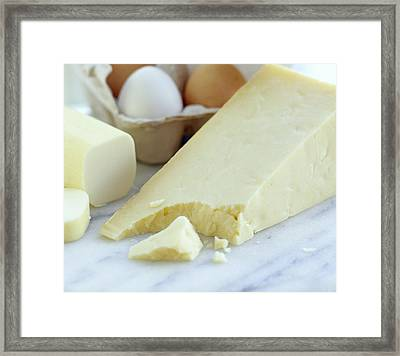 Cheeses And Eggs Framed Print by David Munns
