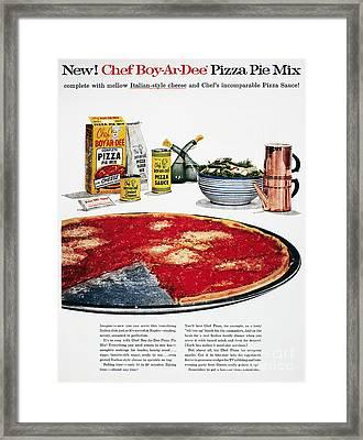 Chef Boyardee Ad, 1956 Framed Print