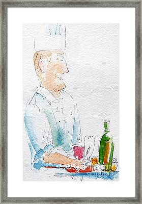 Chef In Action Framed Print by Pat Katz
