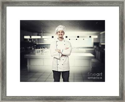 Chef Portrait Framed Print by Gualtiero Boffi