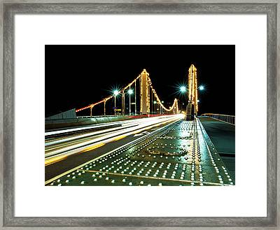 Chelsea Bridge Framed Print by Vulture Labs