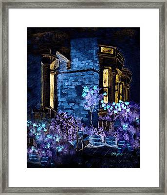 Chelsea Row At Night Framed Print
