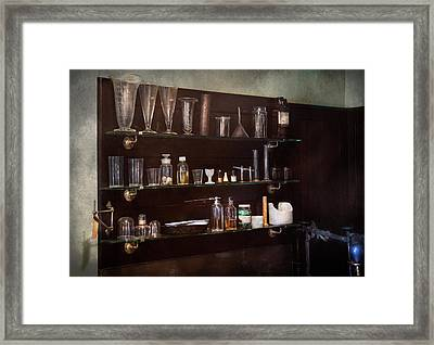 Chemist - The Scientist  Framed Print