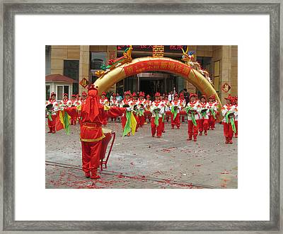 Chenese Wedding Celebration Framed Print by Alfred Ng