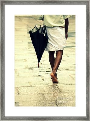 Chennai Rains Framed Print by Vishakha Bhagat