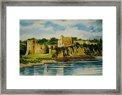 Chepstow Castle  Wales Framed Print by Andrew Read