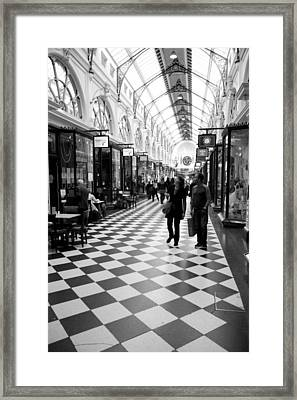 Chequered Framed Print by Lee Stickels