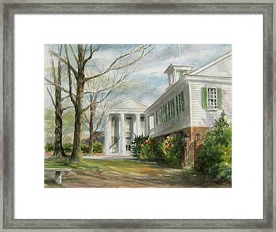 Framed Print featuring the painting Cheraw Town Hall by Gloria Turner