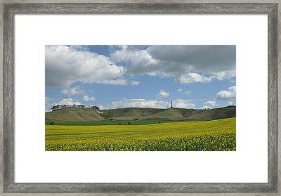 Cherhill White Horse Framed Print
