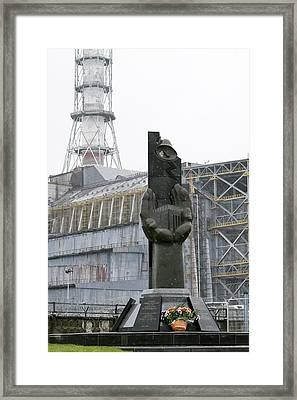 Chernobyl Power Station Monument Framed Print by Ria Novosti