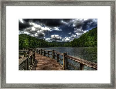 Cherokee Lake Framed Print by Greg and Chrystal Mimbs