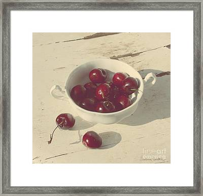 Cherries Still Life  Framed Print by Svetlana Novikova
