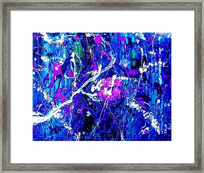 Framed Print featuring the painting Cherry Blossom Explosion by Michelle Dallocchio