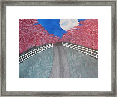 Cherry Blossom Path Framed Print by Kimberly Hebert