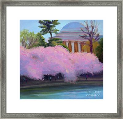 Cherry Blossoms In Afternoon Light Framed Print by Julie Hart