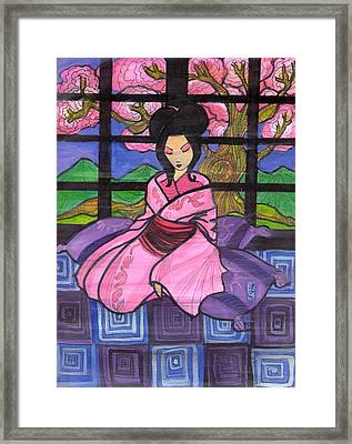 Cherry Blossoms Framed Print by Jonathan Quines