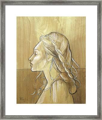 Cherry Framed Print by Jacque Hudson