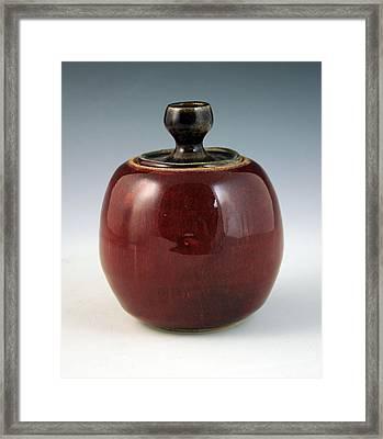 Cherry Jar Framed Print by Alejandro Sanchez
