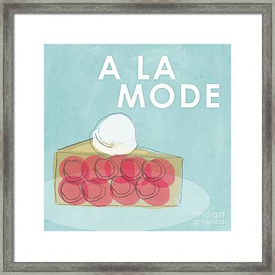Cherry Pie A La Mode Framed Print by Linda Woods