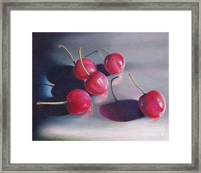 Cherry Talk Framed Print by Elizabeth Dobbs