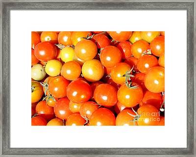 Cherry Tomatoes Framed Print by Carol Groenen