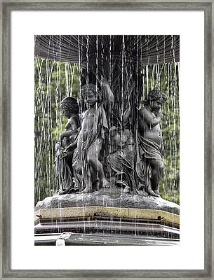 Cherub Bethesda Fountain  Framed Print