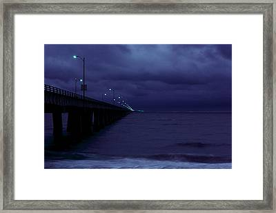 Chesapeake Bay Bridge-tunnel, Night Framed Print
