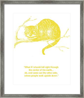 Cheshire Cat Wisdom Framed Print