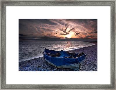Chesil Boat Framed Print by Kris Dutson