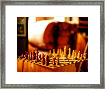 Chess Framed Print by Andre Faubert