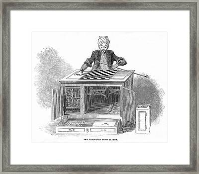 Chess: Automaton, 1845 Framed Print by Granger