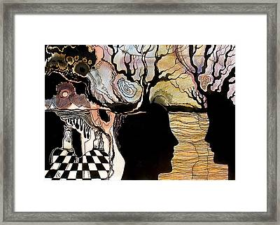 Framed Print featuring the painting Chess Game by Valentina Plishchina