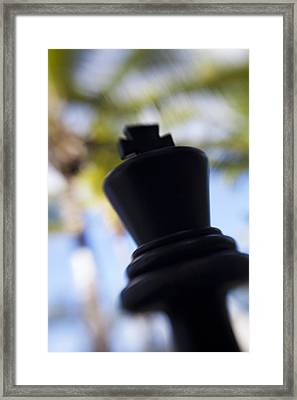 Chess On The Beach Framed Print