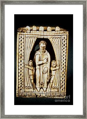 Chess Piece, 11th-12th C Framed Print