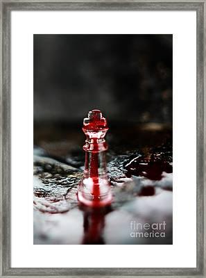 Chess Piece In Blood Framed Print by Stephanie Frey