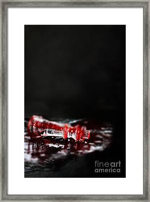 Chess Piece Lying In Blood Framed Print by Stephanie Frey