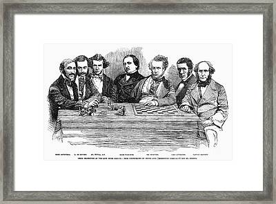 Chess Players, 1855 Framed Print by Granger