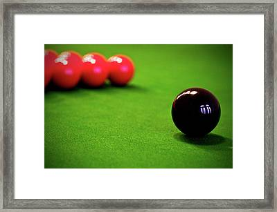 Chess With Balls Framed Print by Ion-Bogdan DUMITRESCU