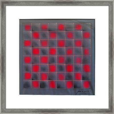 Chessboard 1982 Framed Print by Glenn Bautista