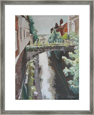 Chester Canal Framed Print by Veronica Coulston