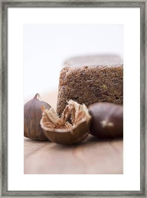Chestnut Cake Framed Print