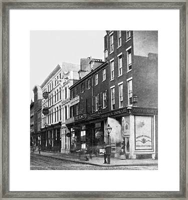Chestnut Street - South Side Of Philadelphia - C 1870 Framed Print by International  Images