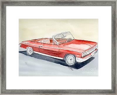 Chevrolet 62 Impala Framed Print